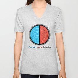 Coded Arts Media Unisex V-Neck
