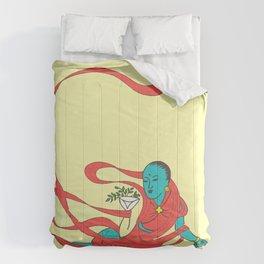 Vintage Traditional Goddess Deva Illustration Pattern Comforters