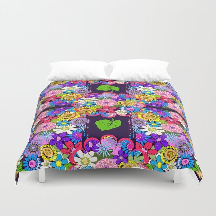 Cute Colourful Flowers Duvet Cover