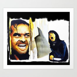 Jack Nicholson the Shining Halloween Vintage Art Print