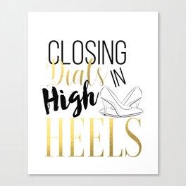 Closing Deals In High Heels,Fashion Print Canvas Print