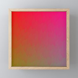 Red Gold Green Ombre Flame Framed Mini Art Print