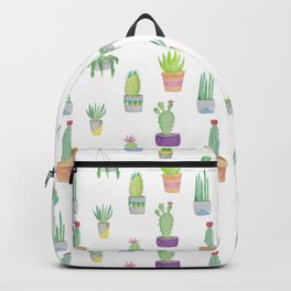 Cacti and Succulent Pattern Backpack