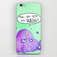 lumpy space princess iPhone & iPod Skins featuring Lumpy Space Princess by inki