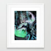 ursula Framed Art Prints featuring Ursula by Iggycrypt