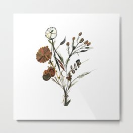 A Bouquet with the strangest flowers Metal Print