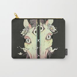 Split Face Horse, Surreal Artwork Carry-All Pouch