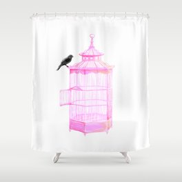 Brooke Figer - PRETTY smart BIRD Shower Curtain