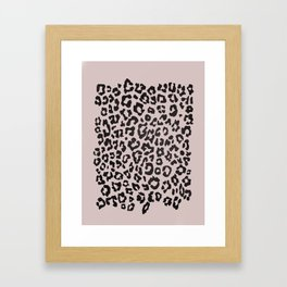minimalist animal print Framed Art Print