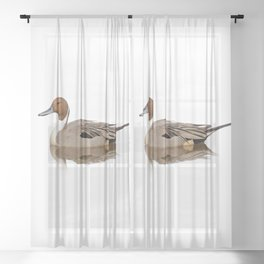 Reflections of a Northern Pintail Duck Sheer Curtain