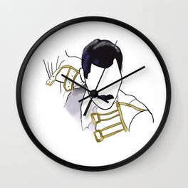 Queen of Mercury Rock Icon Silhouette Wall Clock