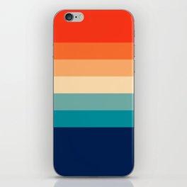 7 Colorful Retro Summer Stripes Bamola iPhone Skin