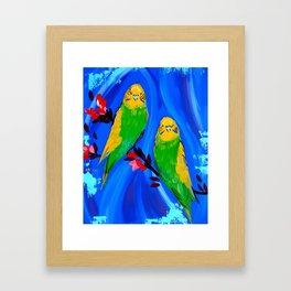 Budgies Framed Art Print