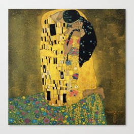 Curly version of The Kiss by Klimt Leinwanddruck