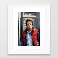 marty mcfly Framed Art Prints featuring Marty McFly by Kaysiell