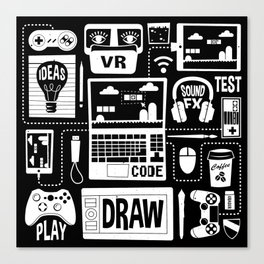It's a Game Dev World Canvas Print