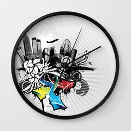 Abstract City Wall Clock