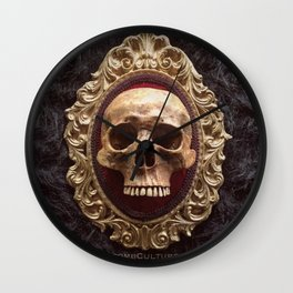 Catacomb Culture - Vintage Human Skull Wall Clock