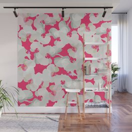 Orchid Blossom Pattern — Pink Wall Mural