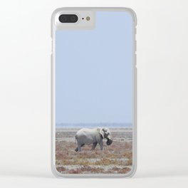 Lone White Elephant Clear iPhone Case