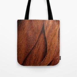 Beautiful Unique  brown wood inlay marquetry veneer design Tote Bag