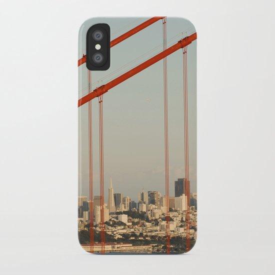 Golden San Gate Francisco Bridge iPhone Case