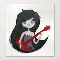 marceline Canvas Prints featuring Marceline by Chris Pioli