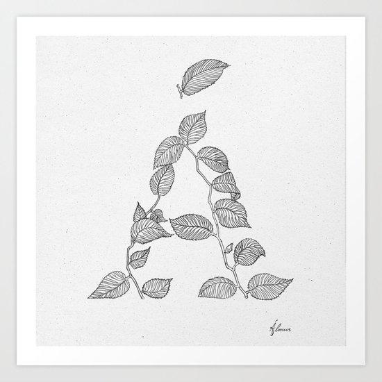 Á is for Álmur Art Print