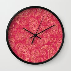 Crazy Paisley Wall Clock