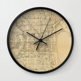 Vintage Philadelphia Railroad Map (1911) Wall Clock