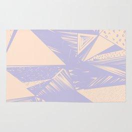 Modern lilac ivory violet geometrical shapes patterns Rug