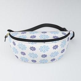 geometric flower 57 blue Fanny Pack