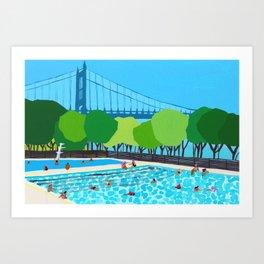 Astoria Park Pool Art Print