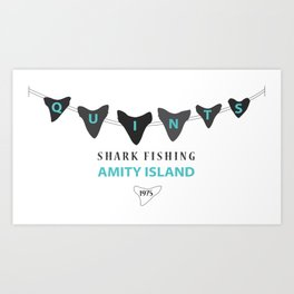 Amity Shark Fishing Art Print
