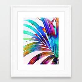 Multicolor Palm Leaf Framed Art Print