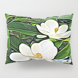 White Flowers of the Purest Essence Pillow Sham