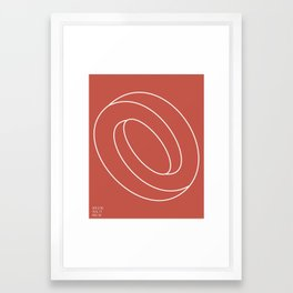 Schleife von Sucht Framed Art Print
