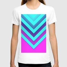 Pink & Aqua Chevron T-shirt