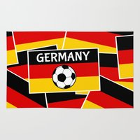 german Area & Throw Rugs featuring German Flag Football by mailboxdisco