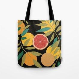 Black Grapefruit Tote Bag