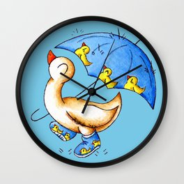 Duck Weather Wall Clock