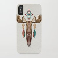 moose iPhone & iPod Cases featuring moose by Manoou