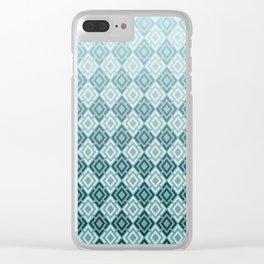 Geometric , gradient 2 Clear iPhone Case
