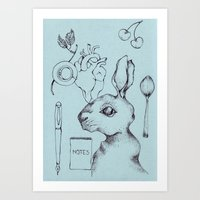 indie Art Prints featuring Indie Rabbit by AurorA