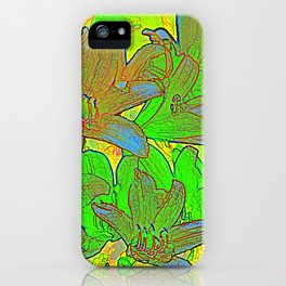 Lilien-Aquarell iPhone Case
