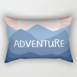 Adventure Sunset Vector Landscape Rectangular Pillow