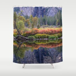 Valley_View 6645 _Yosemite_National_Park, California Shower Curtain