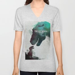Inspired movie poster. The Lost World: Jurassic Park (1997) Unisex V-Neck