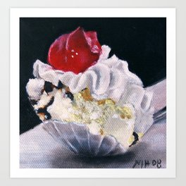 Ice Cream Just a Bite Art Print