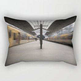 Train station. Rectangular Pillow
